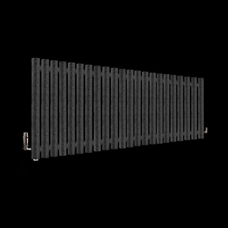 Circolo Black Crocodile Designer Radiator 500mm high x 1195mm wide