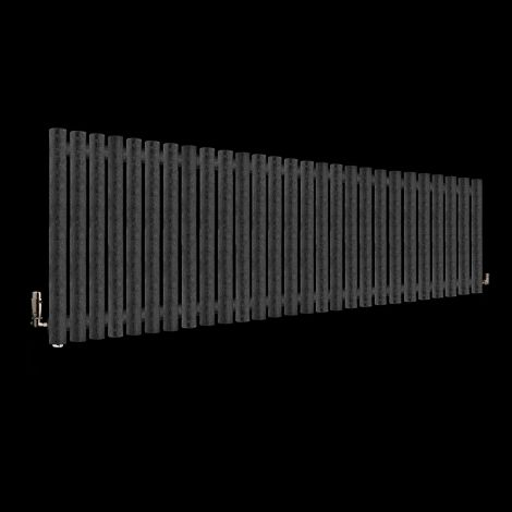 Circolo High BTU Black Crocodile Designer Radiator 500mm high x 1470mm wide