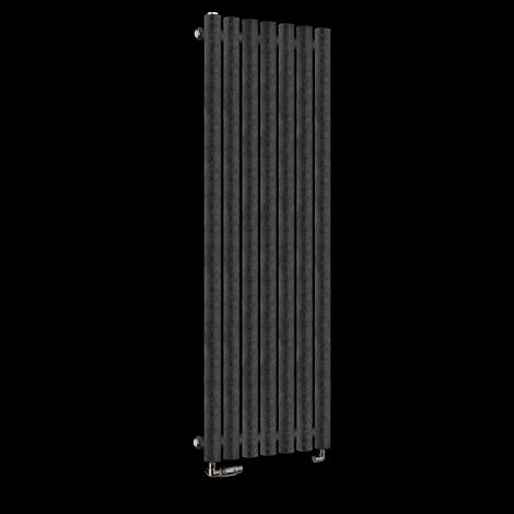 Circolo Thin Black Crocodile Designer Radiator 1200mm high x 370mm wide