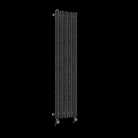 Circolo Thin Black Crocodile Electric Radiator 1200mm high x 370mm wide