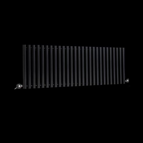Circolo High Output Black Electric Radiator 500mm high x 1470mm wide