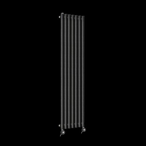 Circolo Tall Thin Black Pepper Electric Radiator 1800mm high x 370mm wide