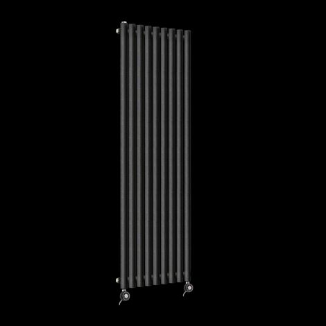 Circolo High Output Black Pepper Electric Radiator 1800mm high x 480mm wide