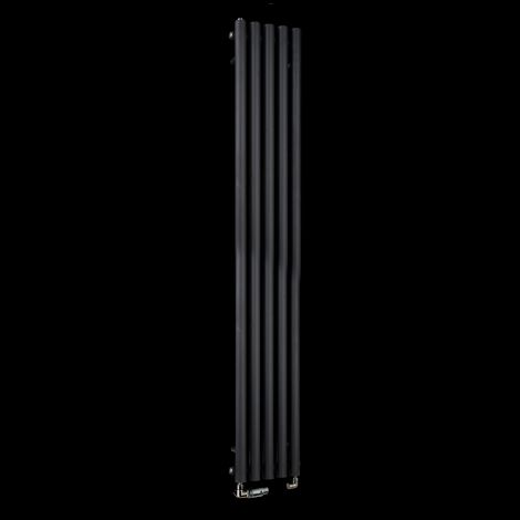 Circolo Tall Black Designer Radiator 1800mm high x 260mm wide