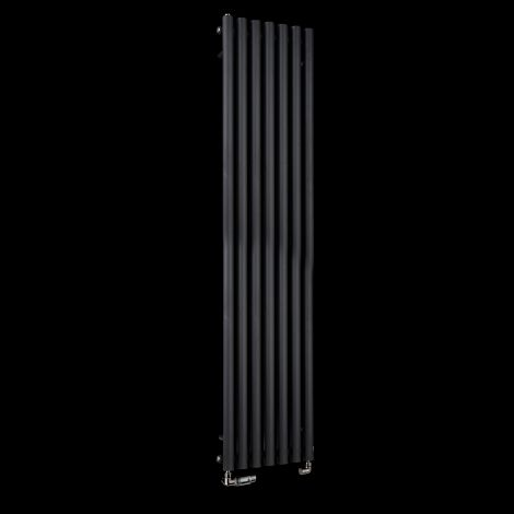 Circolo Tall Black Designer Radiator 1800mm high x 370mm wide