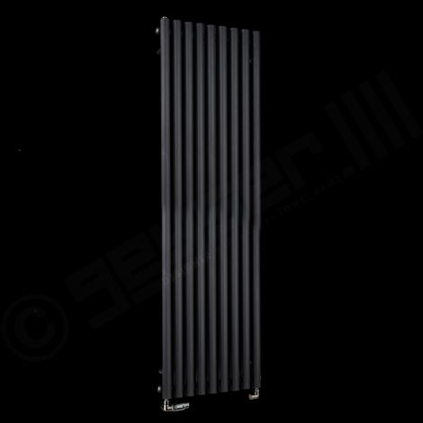 Circolo High BTU Black Designer Radiator 1800mm high x 480mm wide