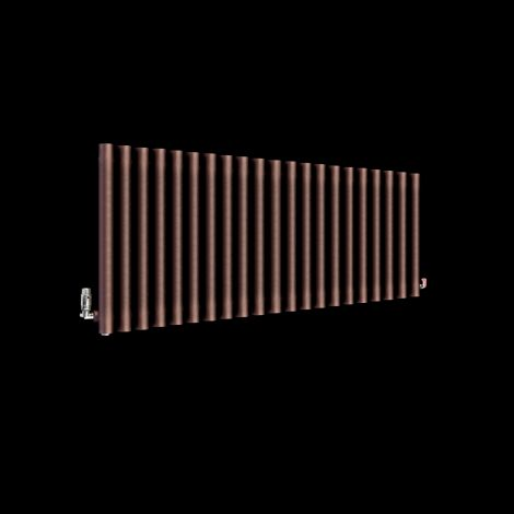Circolo Chocolate Brown Designer Radiator 500mm high x 1195mm wide