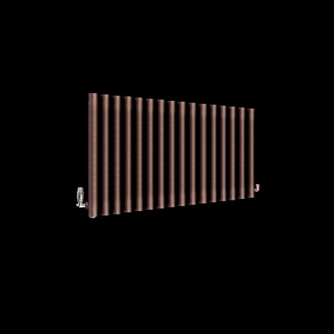 Circolo Chocolate Brown Designer Radiator 500mm high x 865mm wide
