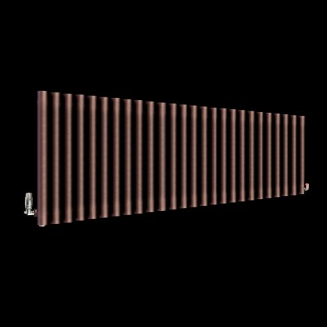 Circolo High BTU Chocolate Brown Designer Radiator 500mm high x 1470mm wide