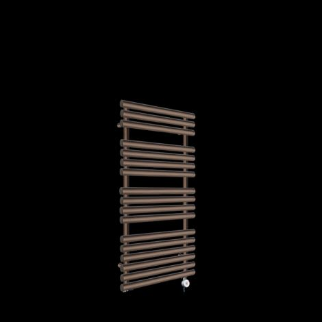 Cirtowelo Chocolate Brown Thermostatic Electric Towel Rail 1085mm high x 520mm wide