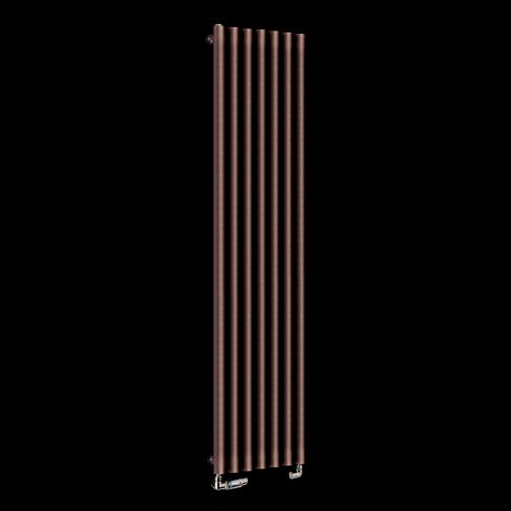 Circolo Tall Chocolate Brown Designer Radiator 1800mm high x 370mm wide