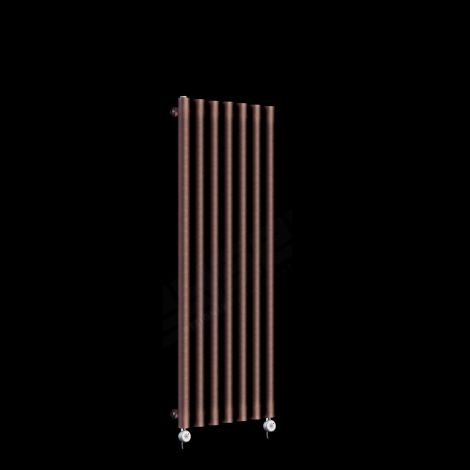 Circolo Thin Chocolate Brown Electric Radiator 1200mm high x 370mm wide