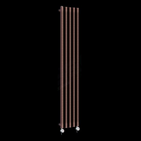 Circolo Tall Ultra Thin Chocolate Brown Electric Radiator 1800mm high x 260mm wide