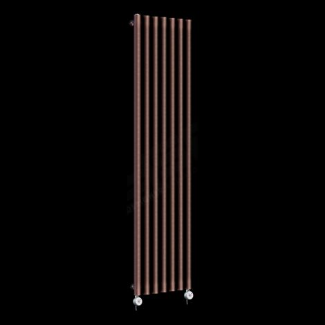 Circolo Tall Thin Chocolate Brown Electric Radiator 1800mm high x 370mm wide