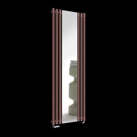 Circolo Brown Designer Mirror Radiator 1800mm high x 590mm wide
