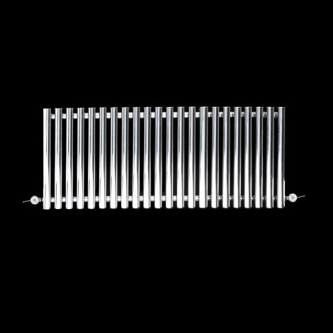 Circolo Low Level Chrome Electric Radiator 500mm high x 1195mm wide