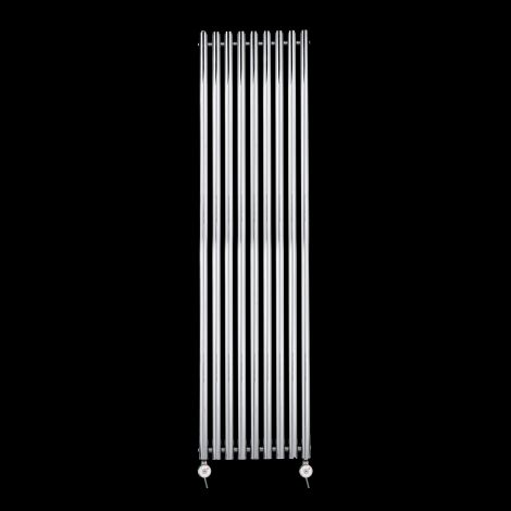 Circolo High Output Chrome Electric Radiator 1800mm high x 480mm wide