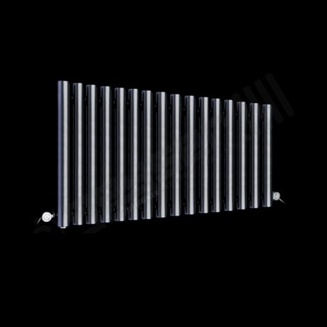 Circolo Space Saving Dark Grey Electric Radiator 500mm high x 865mm wide