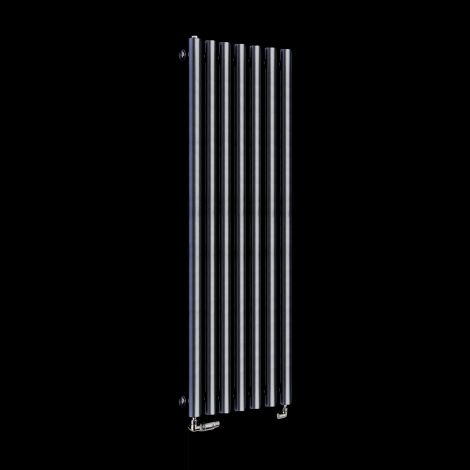 Circolo Thin Dark Grey Designer Radiator 1200mm high x 370mm wide