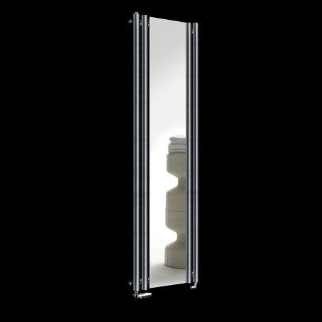 Circolo Dark Grey Designer Mirror Radiator 1800mm high x 480mm wide
