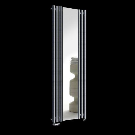 Circolo Dark Grey Designer Mirror Radiator 1800mm high x 590mm wide