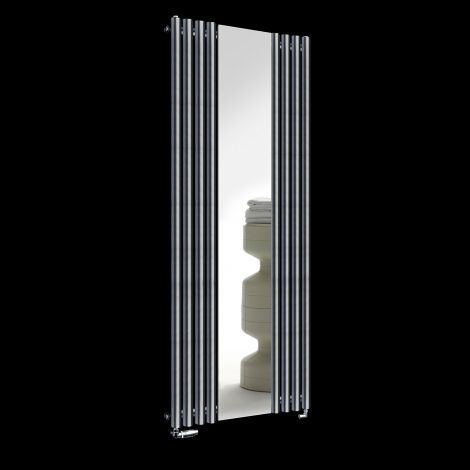 Circolo Dark Grey Designer Mirror Radiator 1800mm high x 700mm wide