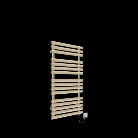 Cirtowelo Light Cream Electric Towel Rail 1085mm high x 520mm wide