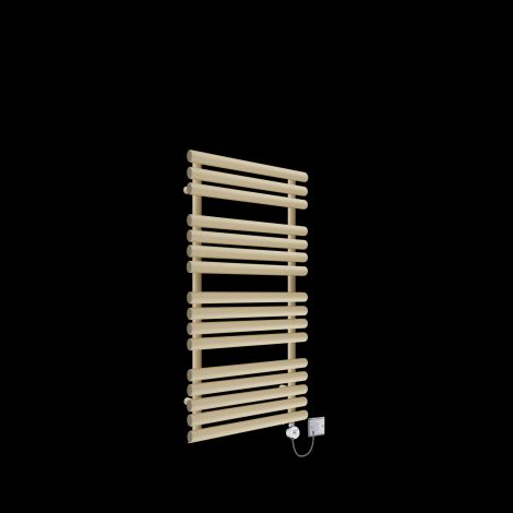 Cirtowelo Light Cream Thermostatic Electric Towel Rail 1085mm high x 520mm wide
