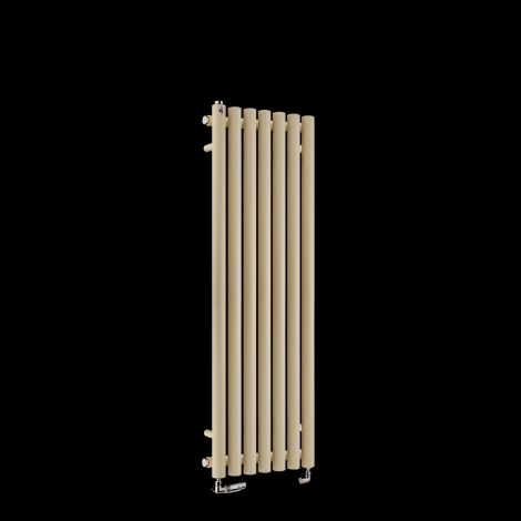 Circolo Thin Light Grey Designer Radiator 1200mm high x 370mm wide