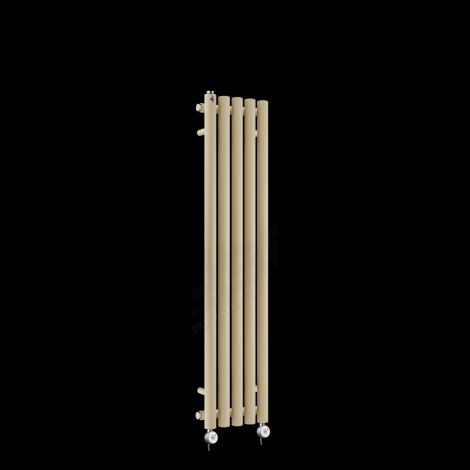 Circolo Ultra Thin Light Cream Electric Radiator 1200mm high x 260mm wide