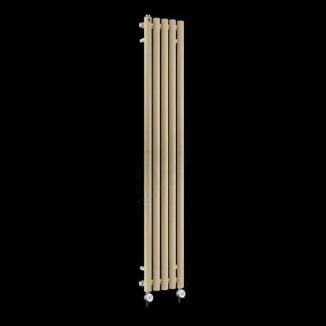 Circolo Tall Ultra Thin Light Cream Electric Radiator 1800mm high x 260mm wide