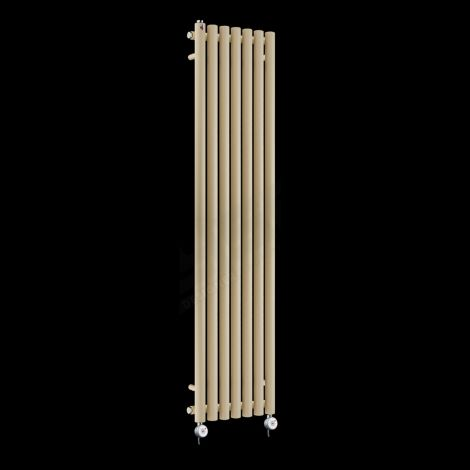 Circolo Tall Thin Light Cream Electric Radiator 1800mm high x 370mm wide
