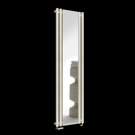 Circolo Light Cream Designer Mirror Radiator 1800mm high x 480mm wide