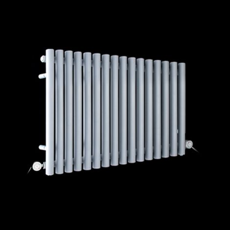 Circolo Space Saving Light Grey Electric Radiator 500mm high x 865mm wide
