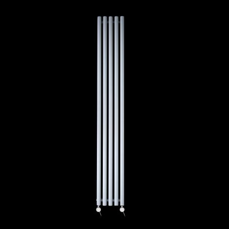 Circolo Tall Ultra Thin Light Grey Electric Radiator 1800mm high x 260mm wide