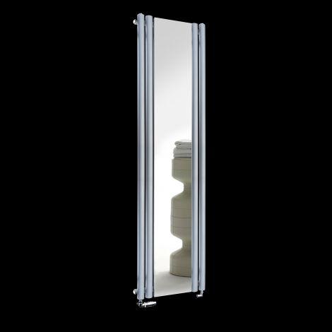Circolo Light Grey Designer Mirror Radiator 1800mm high x 480mm wide