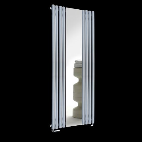 Circolo Light Grey Designer Mirror Radiator 1800mm high x 700mm wide