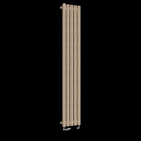 Circolo Tall Sand Brown Designer Radiator 1800mm high x 260mm wide