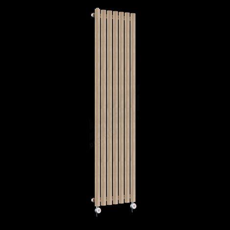 Circolo Tall Thin Sand Brown Electric Radiator 1800mm high x 370mm wide