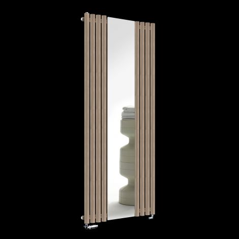 Circolo Sand Brown Designer Mirror Radiator 1800mm high x 700mm wide