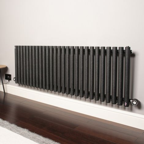 Circolo High Output Black Pepper Electric Radiator 500mm high x 1470mm wide