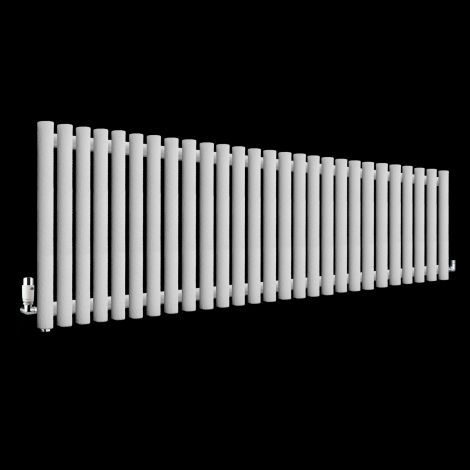 Circolo High BTU White Crocodile Designer Radiator 500mm high x 1470mm wide