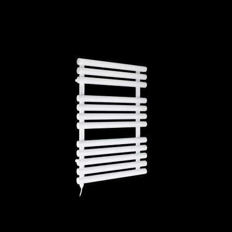 Cirtowelo White Compact Electric Towel Rail 755mm high x 520mm wide