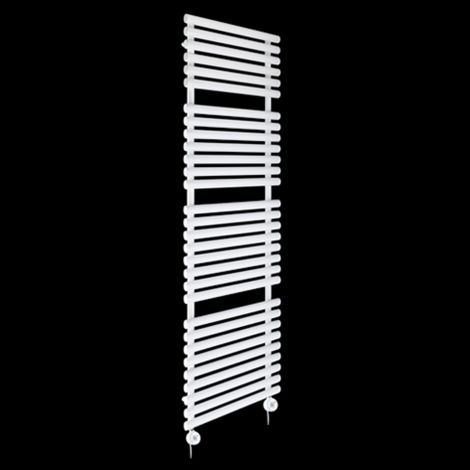 Cirtowelo White Tall Large Thermostatic Electric Towel Rail 1800mm high x 520mm wide