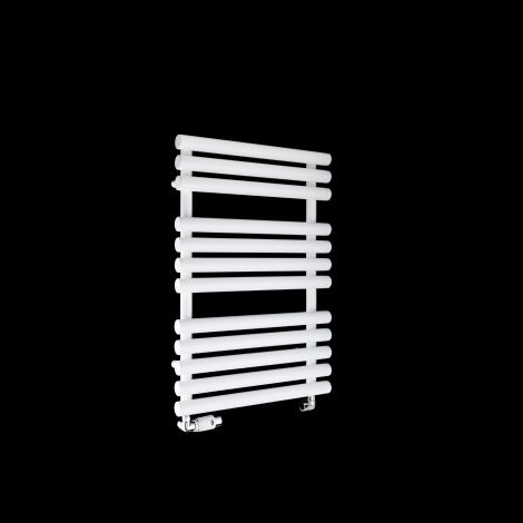 Cirtowelo White Compact Heated Towel Rail 755mm high x 520mm wide