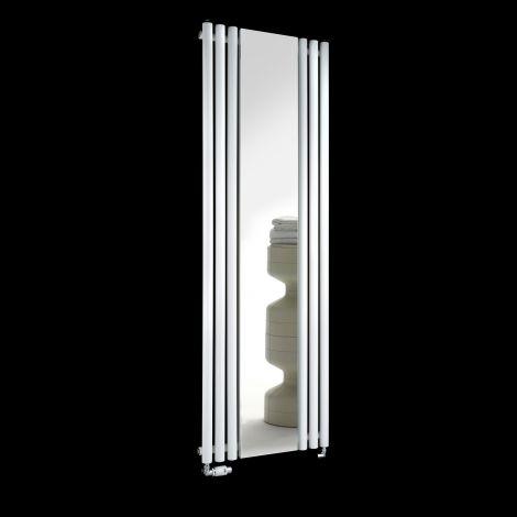 Circolo White Designer Mirror Radiator 1800mm high x 590mm wide