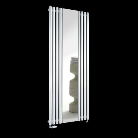 Circolo White Designer Mirror Radiator 1800mm high x 700mm wide