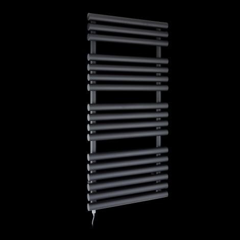 Cirtowelo Black Electric Towel Rail 1085mm high x 520mm wide
