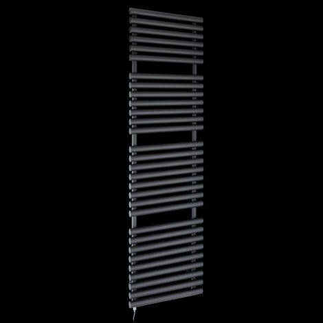 Cirtowelo Black Tall Large Electric Towel Rail 1800mm high x 520mm wide