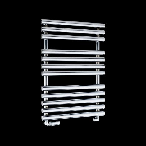 Cirtowelo Chrome Compact Heated Towel Rail 755mm high x 520mm wide